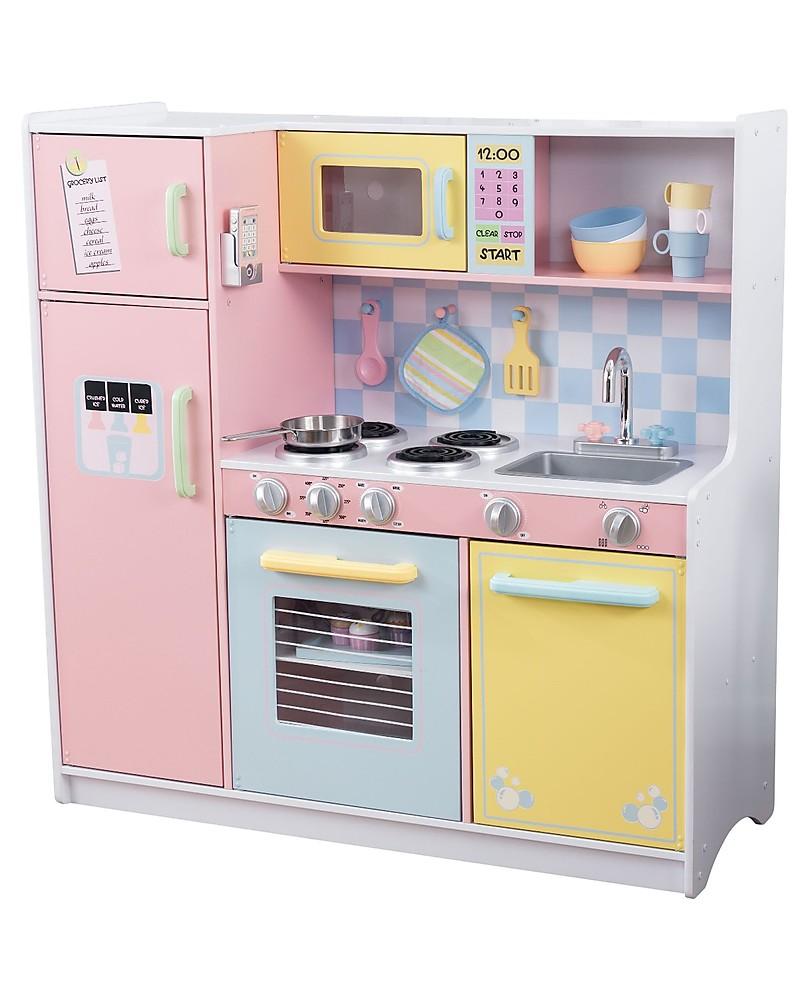 Kidkraft Large Pastel Play Kitchen Colorful And Big Wood Unisex