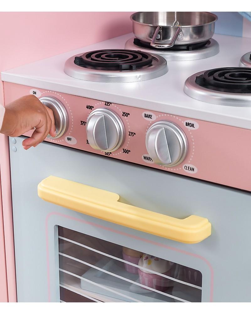 KidKraft Large Pastel Play Kitchen, Colorful and Big - Wood ...