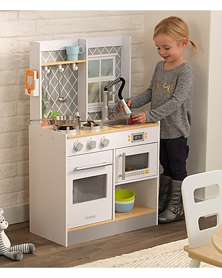 KidKraft Let's Cook Play Kitchen with Light and Sounds - Wood Creative Toys