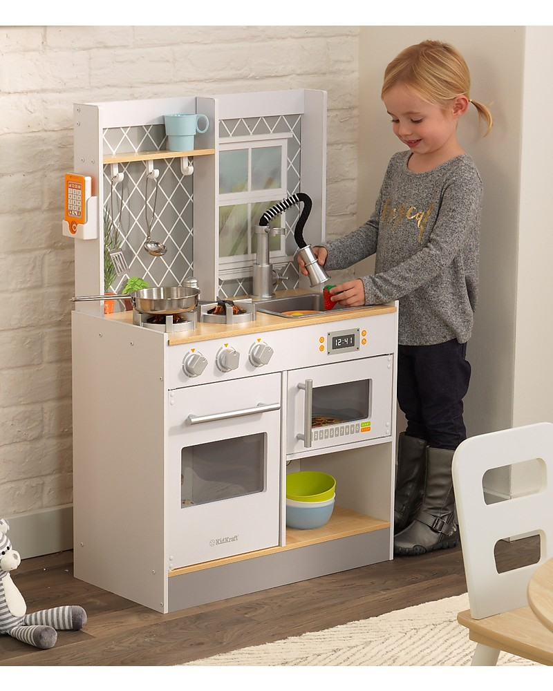 KidKraft Let\'s Cook Play Kitchen with Light and Sounds ...