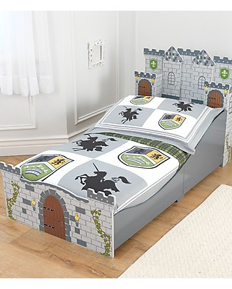 KidKraft Medieval Castle Toddler Bed - Wood Single Bed