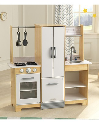 KidKraft Modern-Day Play Kitchen, Really Easy to Assemble - Wood Creative Toys
