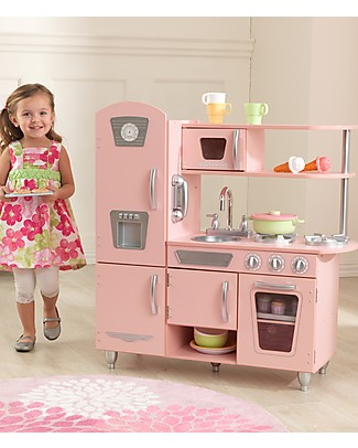 KidKraft Pink Vintage Play Kitchen - Wood Creative Toys