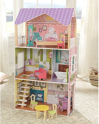 KidKraft Poppy Dollhouse with Functional Door and Window - Wood Dolls Houses