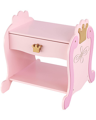 KidKraft Princess Side Table with Sliding Drawer - Wood Dressers