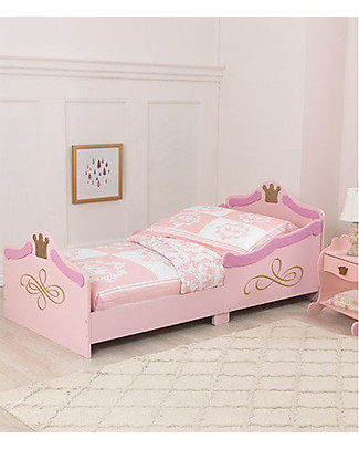 KidKraft Princess Toddler Bed with Gold Filigree - Wood Single Bed