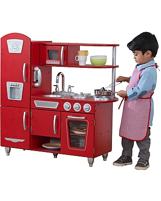 KidKraft Red Vintage Play Kitchen - Wood Creative Toys