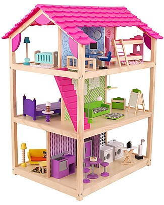 KidKraft So Chic Dollhouse, Rolling with 10 Rooms! - Wood Dolls Houses