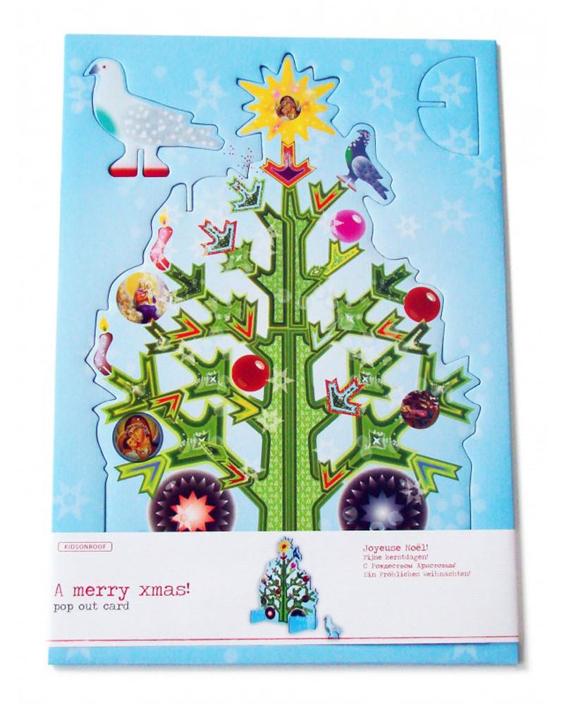 Kidsonroof large size pop out decorative christmas tree greeting kidsonroof large size pop out decorative christmas tree greeting card a4 size 30 x kristyandbryce Images