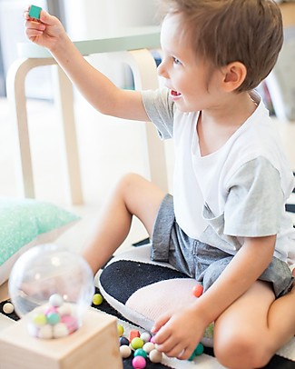 Kiko+ and gg* Gatcha-Gatcha Wooden Shapes Dispenser FSC Beechwood Non-toxic Colours Wooden Blocks & Construction Sets