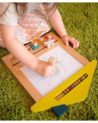 Kiko+ and gg* Magic Drawing Board Oekaki House Dog - Sustainable Beechwood Non-toxic colours Drawing Boards