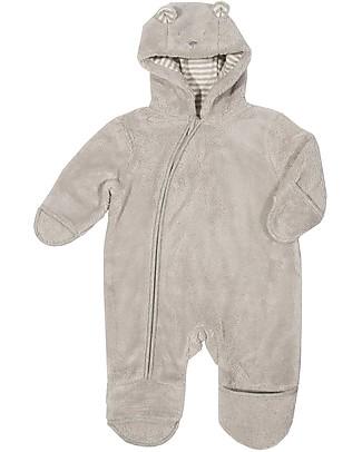 Kite Bear Fleece Onesie, Grey – 0-12 months, Warm and Cosy! Snowsuits