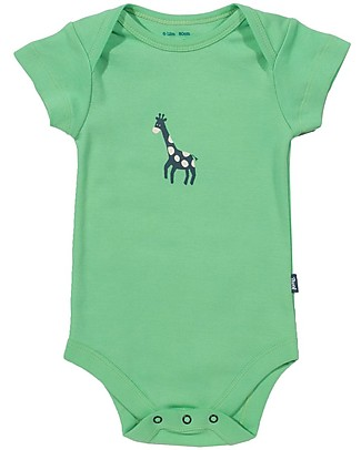 Kite Giraffe Bodysuit, Green - 100% organic cotton Short Rompers