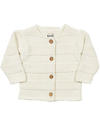 Kite Knit Purl Cardi, Cream - 100% organic cotton Cardigans