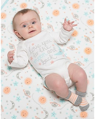 Kite Long sleeved Bodysuit - Love you, White - 100% organic cotton Short Rompers