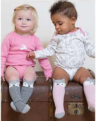 Kite Long sleeved Bodysuits, 2-pack - Toadstool, White/Pink - 100% organic cotton Short Rompers