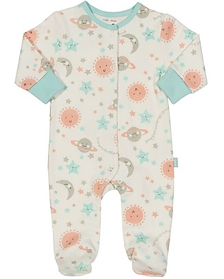 Kite Love you Long Sleeved Sleepsuit - 100% organic cotton Babygrows