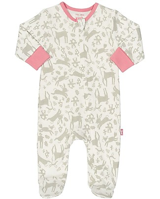 Kite Toadstool Zippy LongSleeved Sleepsuit - 100% organic cotton Babygrows
