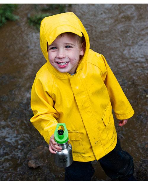 Klean Kanteen Kids Stainless Steel Sports Bottle 355 ml - Brushed Steel Safe, Robust and Leak-proof Metal Bottles
