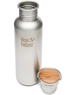 Klean Kanteen Reflect Stainless Steel Water Bottle 800 ml - Brushed Steel - Modern, Functional, Sustainable Metal Bottles