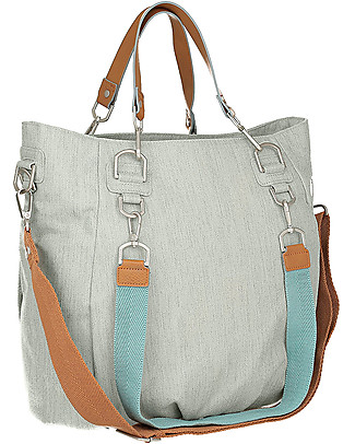 Lässig Green Label Mix'n Match Changing Bag, Light Grey - Lots of accessories, 100% recycled Diaper Changing Bags & Accessories