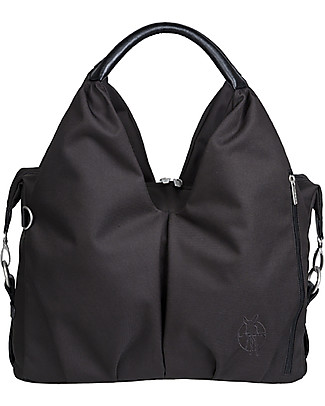 Lässig Neckline Green Label Changing Bag, Black - Lots of accessories, 100% recycled Diaper Changing Bags & Accessories
