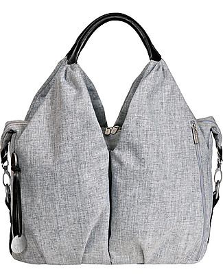 Lässig Neckline Green Label Changing Bag, Black Melange – Lots of accessories, 100% recycled Diaper Changing Bags & Accessories