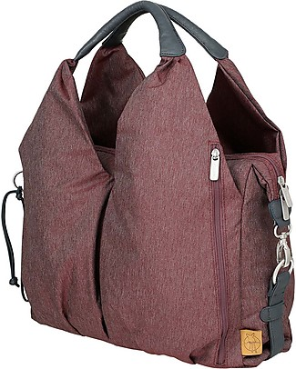 Lässig Neckline Green Label Changing Bag, Burgundy Red – Lots of accessories, 100% recycled Messenger Bags