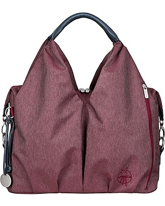 Lässig Neckline Green Label Changing Bag, Burgundy Red - Lots of accessories, 100% recycled Messenger Bags