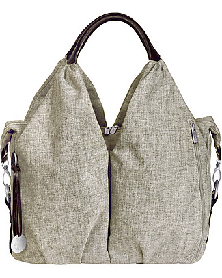 Lässig Neckline Green Label Changing Bag, Choco Melange – Lots of accessories, 100% recycled Diaper Changing Bags & Accessories