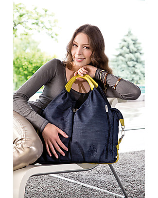 Lässig Neckline Green Label Changing Bag, Denim – Lots of accessories, 100% recycled Diaper Changing Bags & Accessories