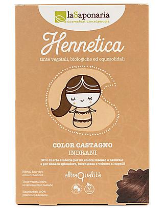 "La Saponaria Bio Hair Dye 100% Vegetarian, Chestnut Brown ""Indrani"" Hair Care"