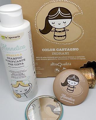 "La Saponaria Bio Hair Dye 100% Vegetarian, Chestnut Brown ""Indrani"" Shampoos And Baby Bath Wash"