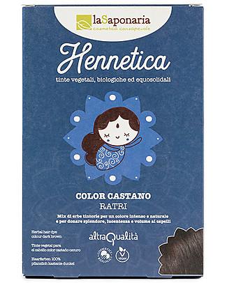 "La Saponaria Bio Hair Dye 100% Vegetarian, Dark Brown ""Ratri"" Hair Care"