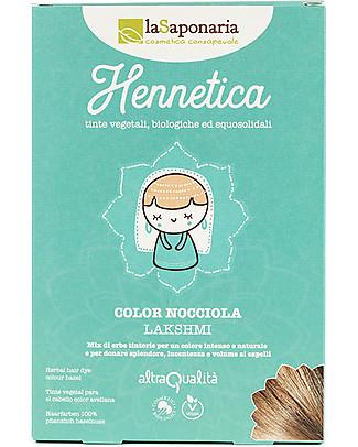 "La Saponaria Bio Hair Dye 100% Vegetarian, Hazelnut ""Lakshmi"" Shampoos And Baby Bath Wash"