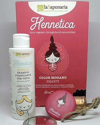 """La Saponaria Bio Hair Dye 100% Vegetarian, Mahogany """"Shakti"""" Hair Care"""