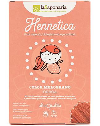 """La Saponaria Bio Hair Dye 100% Vegetarian, Pomenagrate """"Indrani"""" Shampoos And Baby Bath Wash"""