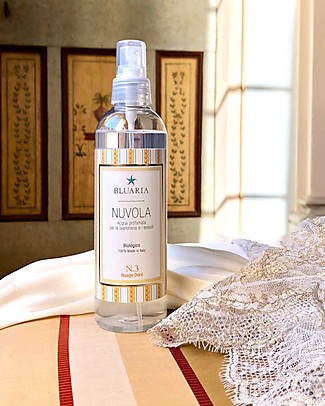 "La Saponaria Bluaria Scented Water for Rooms and Fabrics ""Nuvola"", Fig and Rhubarb - 250 ml Home Cleaning"