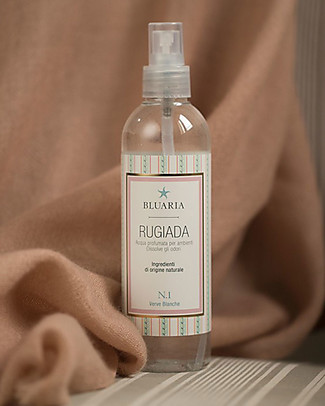 "La Saponaria Bluaria Scented Water for Rooms and Fabrics ""Rugiada"", Watermelon and Lotus Flower - 250 ml Home Cleaning"