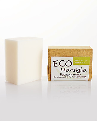 La Saponaria Eco Marseille - Hand washing soap, 200 gr - Handmade, fair-trade, organic Detergents