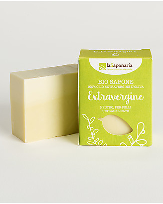 La Saponaria Extra-virgin Olive Oil Soap, 100 gr - For sensitive skin Shampoos And Bath Wash