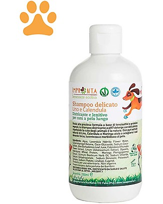 La Saponaria Gentle Shampoo, Linen and Calendula, for Long-Haired Dogs - 250 ml Shampoo and Conditioner