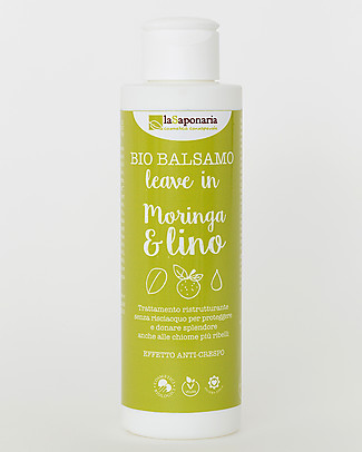 La Saponaria Leave In Conditioner Moringa and Flax, Flaxseeds Range, 150 ml - Anti-fizz Shampoos And Bath Wash