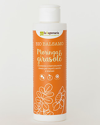 La Saponaria Moringa and Sunflower Conditioner, Flaxseed Range, 150 ml - For dry hair Shampoos And Baby Bath Wash