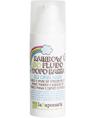 "La Saponaria Organic Aftershave Fluid ""Rainbow"", Hemp and Sage - 50 ml Face"