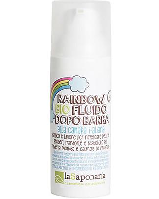 """La Saponaria Organic Aftershave Fluid """"Rainbow"""", Hemp and Sage - 50 ml null"""
