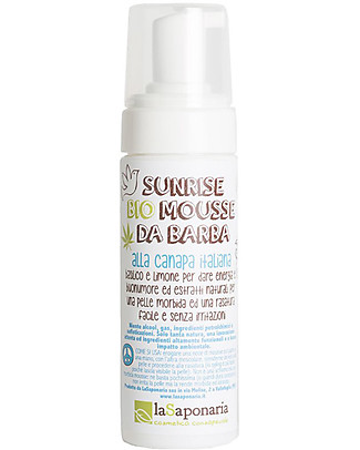 "La Saponaria Organic Mousse for Beard ""Sunrise"", Hemp and Sage - 150 ml Face"