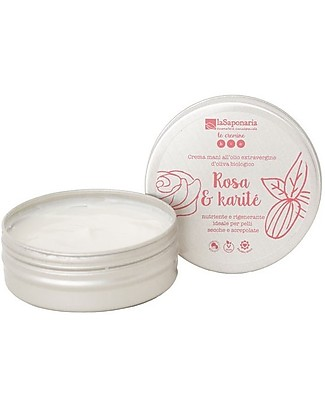 La Saponaria Rose and Shea Butter Hand Cream, 60 ml -  For Dry and Cracked Skin Body Lotions And Oils