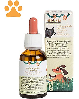 La Saponaria Serum Cleaning Ears for Dogs and Cats, Chamomile and Calendula - 30 ml Pet Grooming