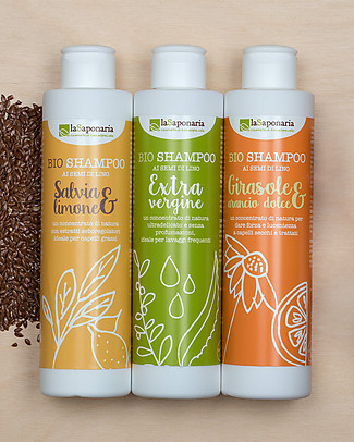 La Saponaria Sunflower and Sweet Orange Shampoo, Flaxseeds Range, 200 ml - For dry/coloured hair Shampoos And Bath Wash